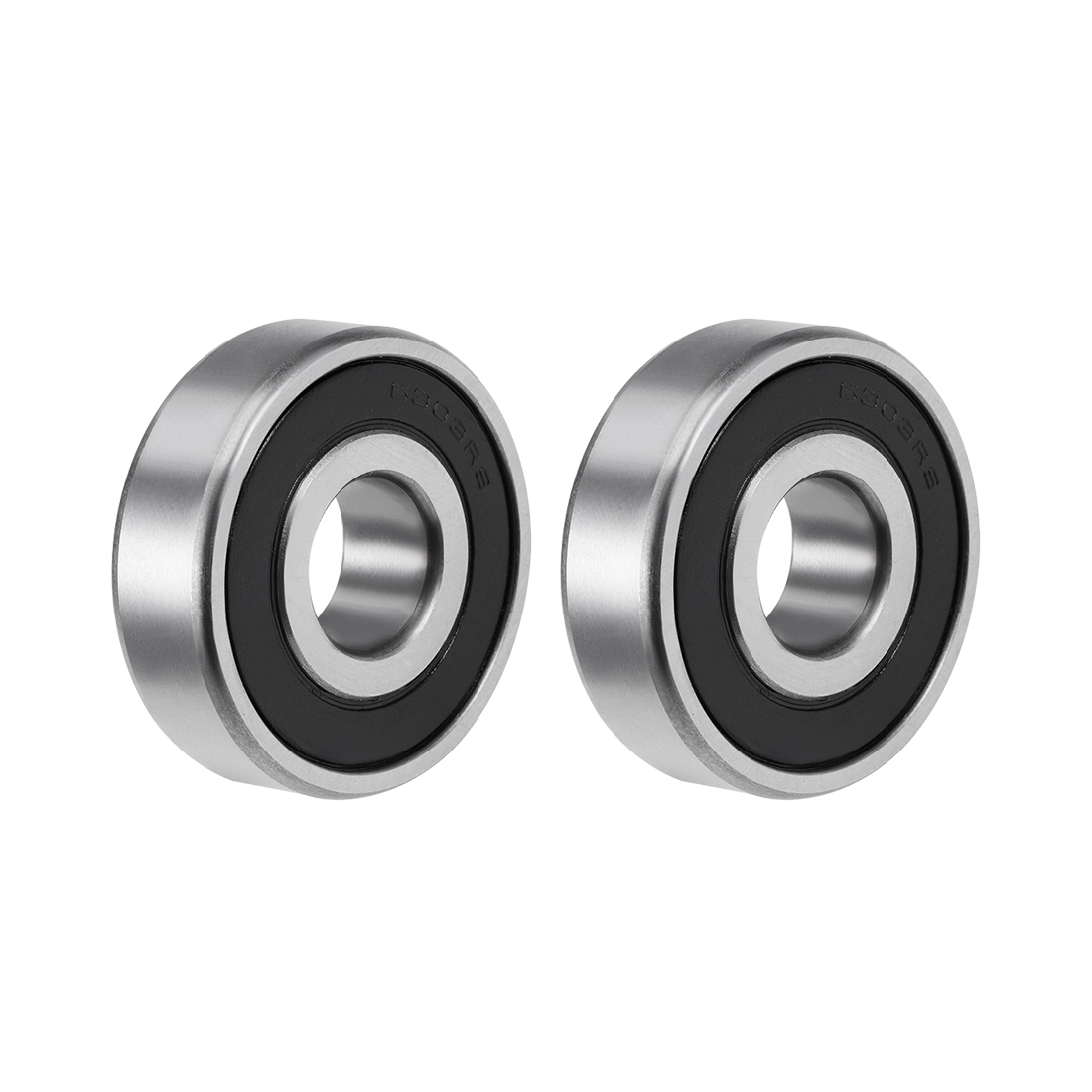 6303-2RS Ball Bearing 17x47x14mm Double Sealed ABEC-3 Bearings 2pcs