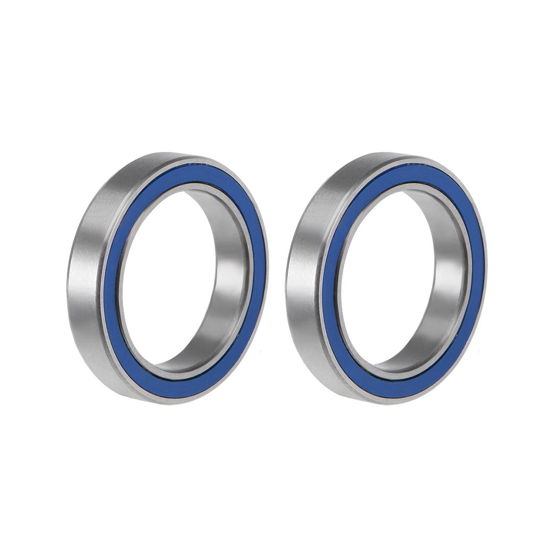 6702-2RS Ball Bearing 15x21x4mm Double Sealed ABEC-3 Bearings 2pcs