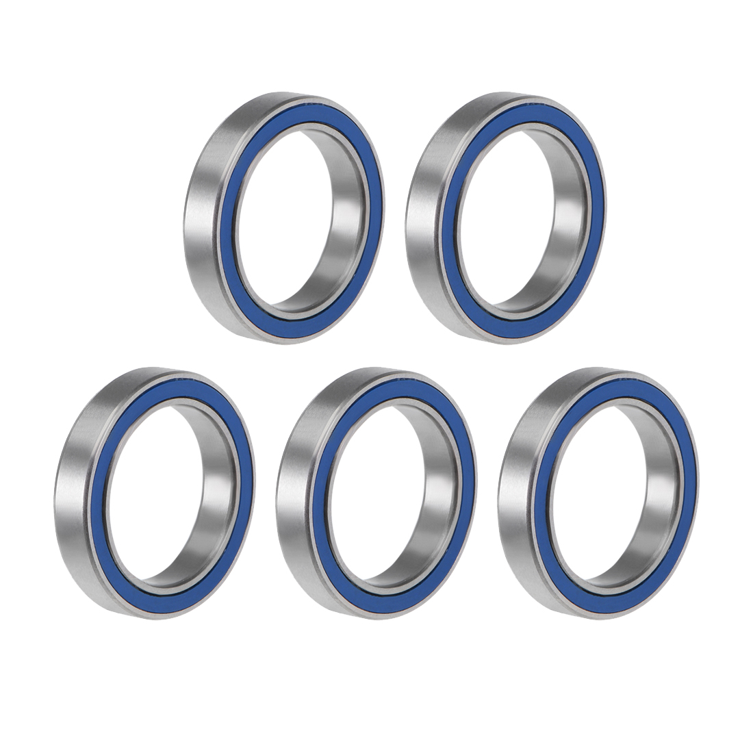 6702-2RS Ball Bearing 15x21x4mm Double Sealed ABEC-3 Bearings 5pcs