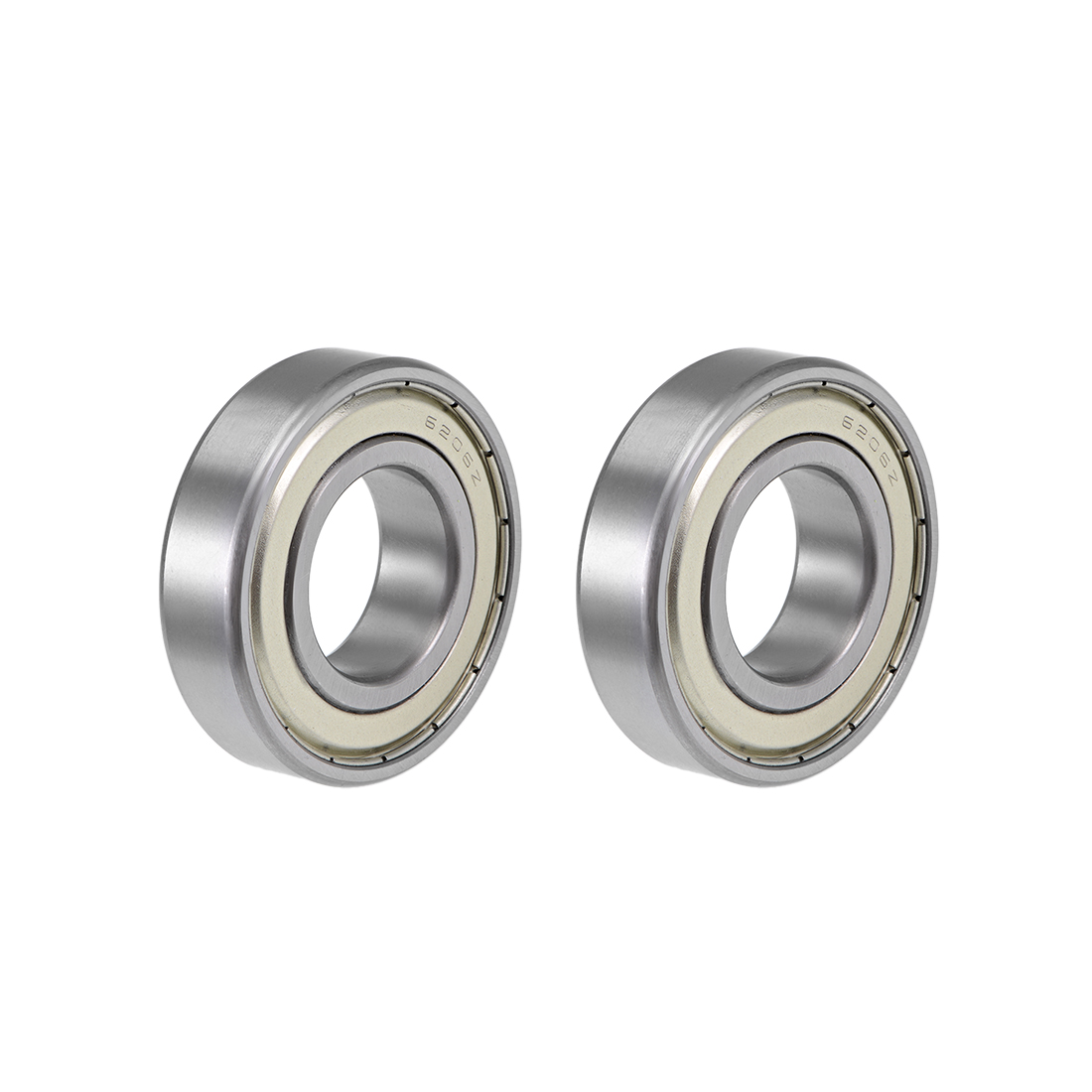 6206ZZ Ball Bearing 30x62x16mm Double Shielded ABEC-3 Bearings 2pcs