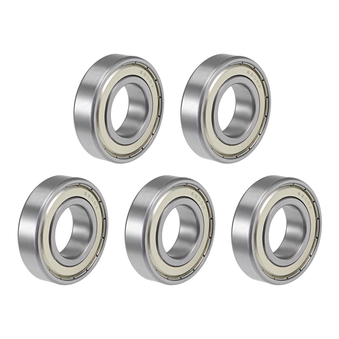6206ZZ Ball Bearing 30x62x16mm Double Shielded ABEC-3 Bearings 5pcs