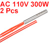 2PCS Cartridge Heater AC 110V 300W Stainless Steel Heating Element 9.5mmx80mm
