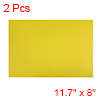 "2 Pcs Dry Erase Flexible Magnetic Strip 11.7"" x 8"" Labels Stickers Yellow"