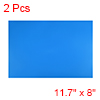 "2 Pcs Dry Erase Flexible Magnetic Strip 11.7"" x 8"" Magnetical Sheet Blue"