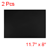 "2 Pcs Dry Erase Flexible Magnetic Strip 11.7"" x 8"" Stickers Writable Black"
