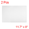 "2Pcs Dry Erase Flexible Magnetic Strip 11.7"" x 8"" Labels Stickers Writable White"