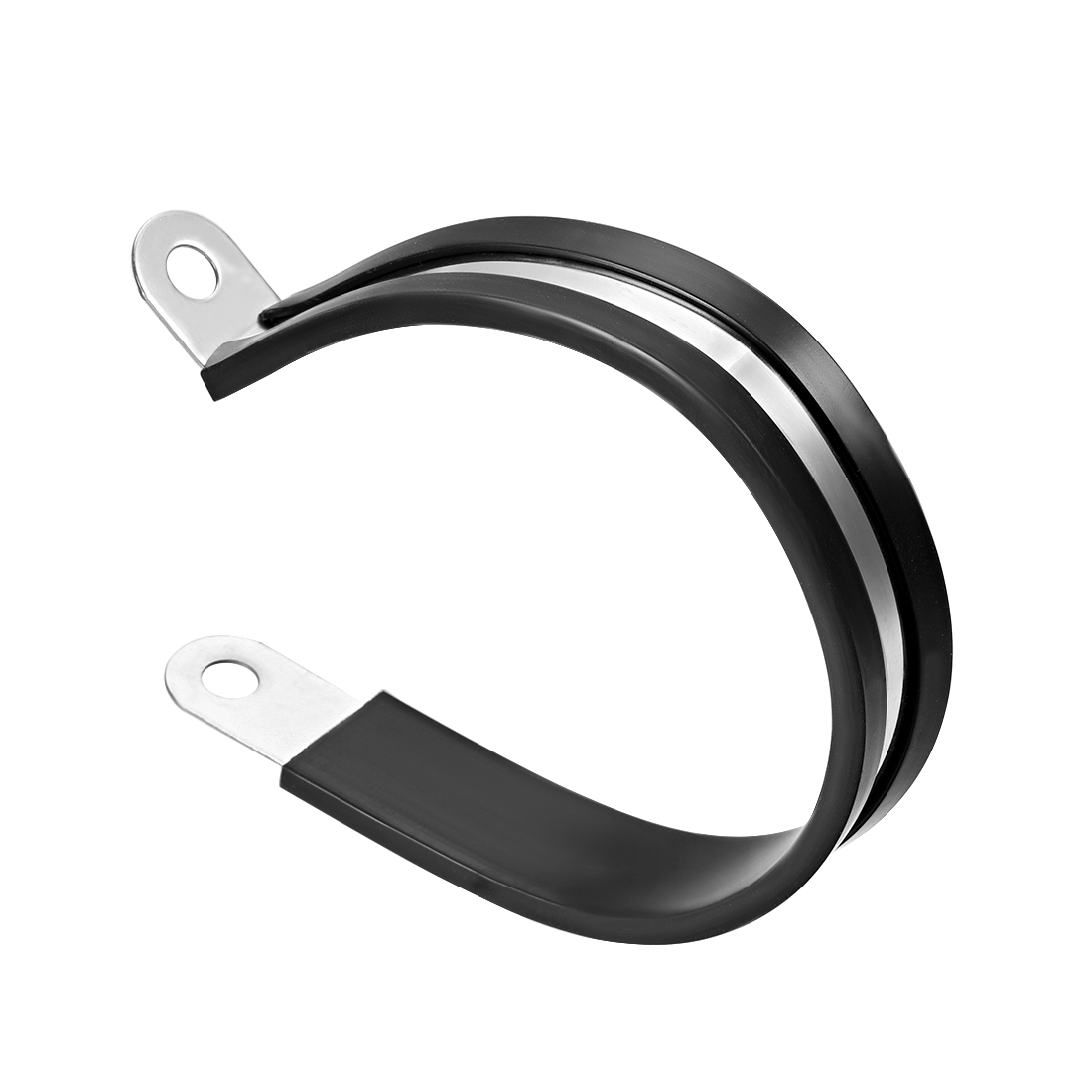 63mm Stainless Steel Rubber Cushioned Insulated Clamp R Shape Metal Clamp 5Pcs