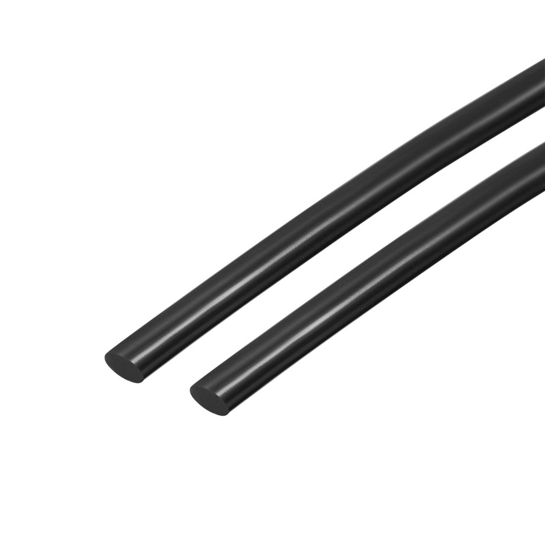"39"" Long 4MM Dia High Temperature Resistant Silicone Sealing Strip (Black, 2pcs)"