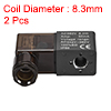 AC380V 6W Electric Solenoid Air Valve Coil w Red Light,Black,2pcs