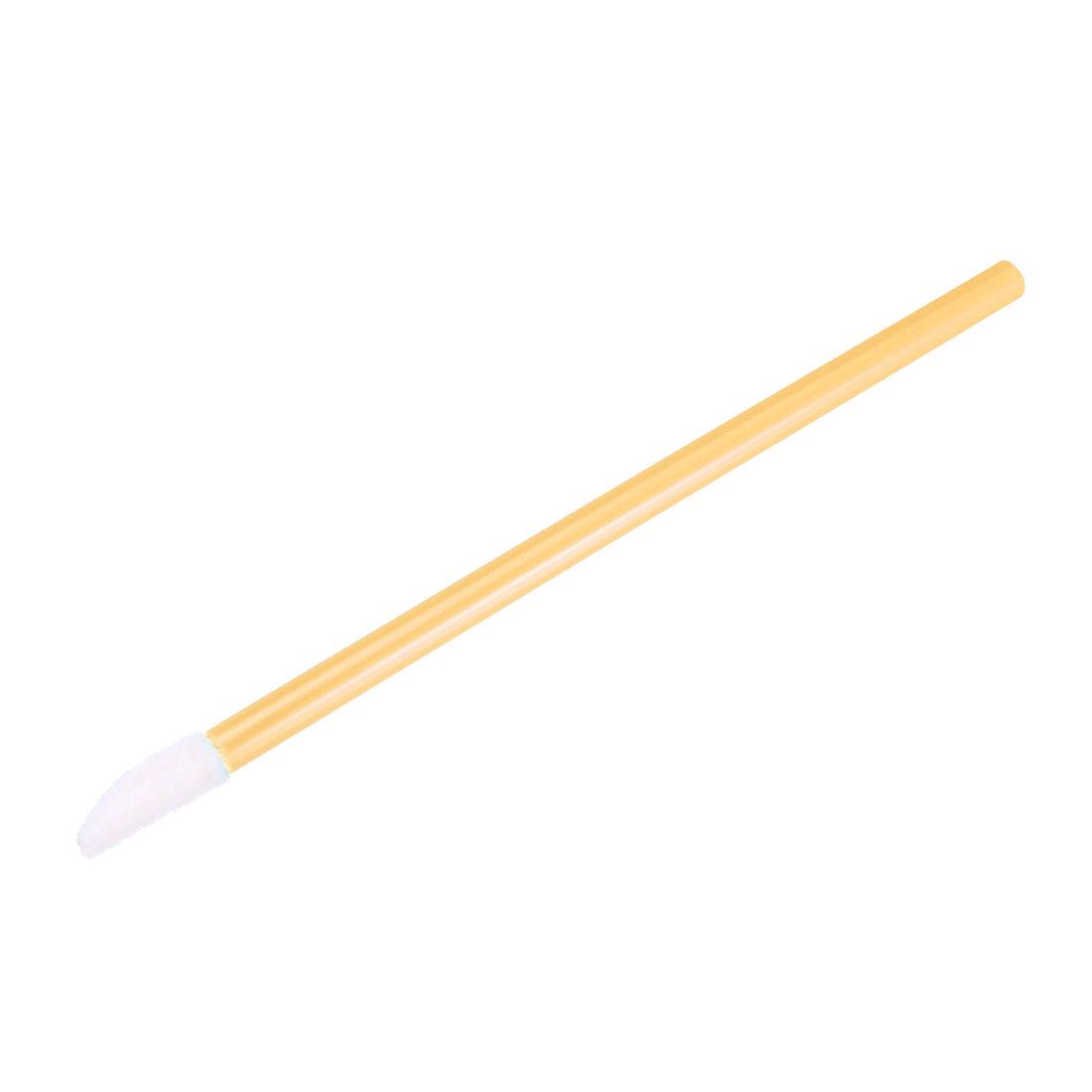 Disposable Lip Brushes Lipstick Wands Tool Kits Make up Brush Yellow 50pcs