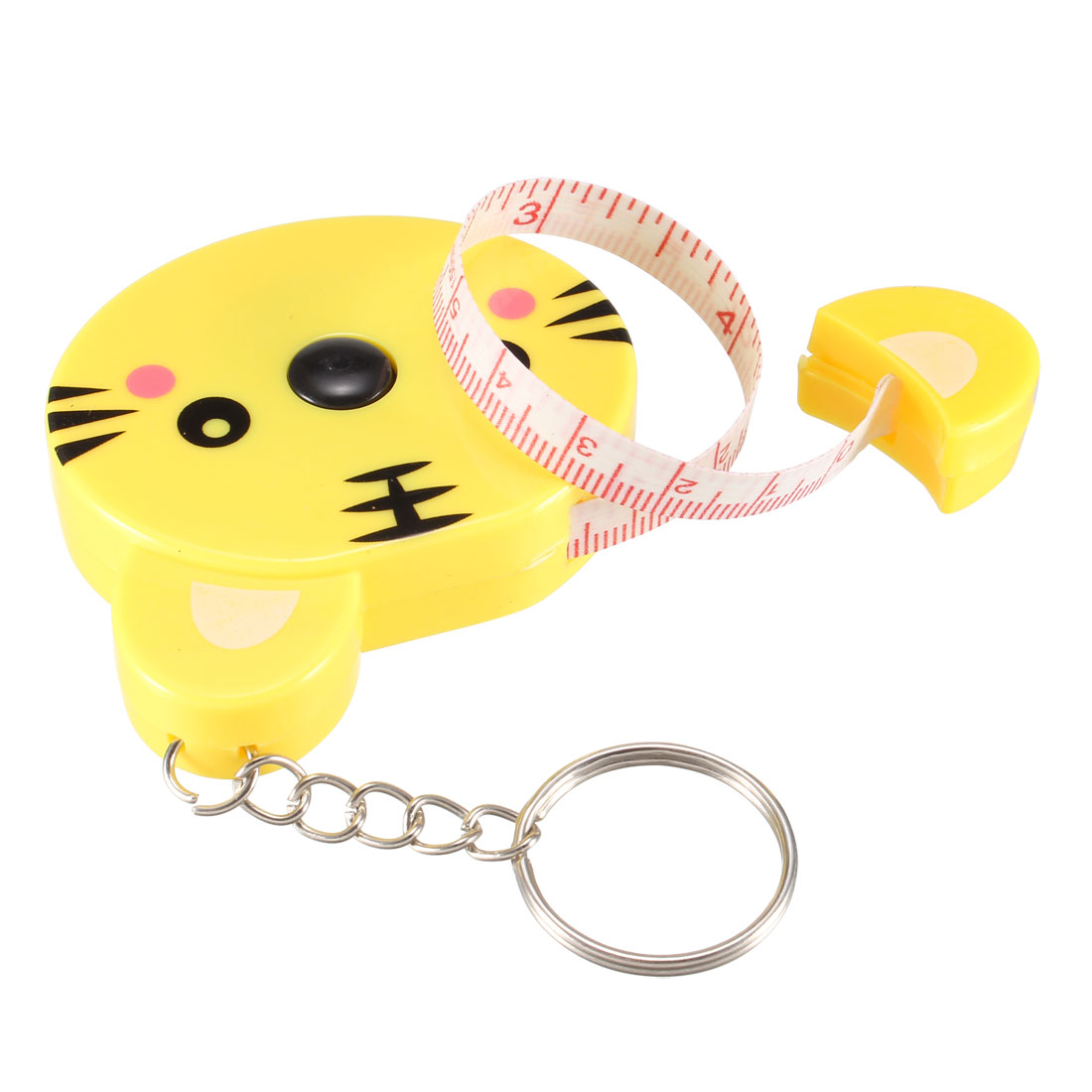 60 Inch Measuring Tape Soft Dual Sided with Keychain 1.5 Meter Cartoon Yellow