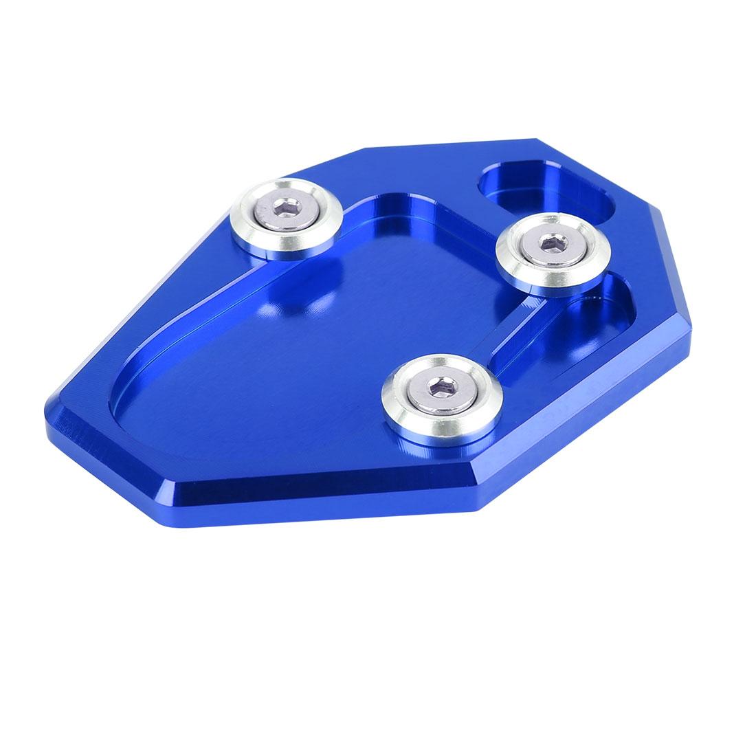 Blue Aluminium Alloy Nonslip Kickstand Enlarger Pad for Yamaha MT-07 FZ-07