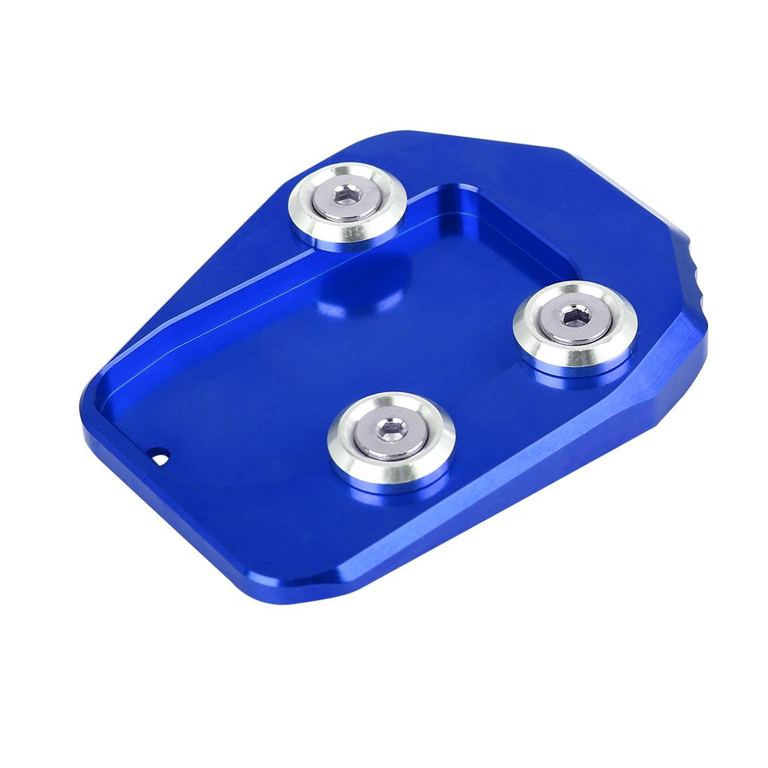 Blue Aluminium Alloy Nonslip Kickstand Enlarger Pad for Yamaha MT-09 FZ-09