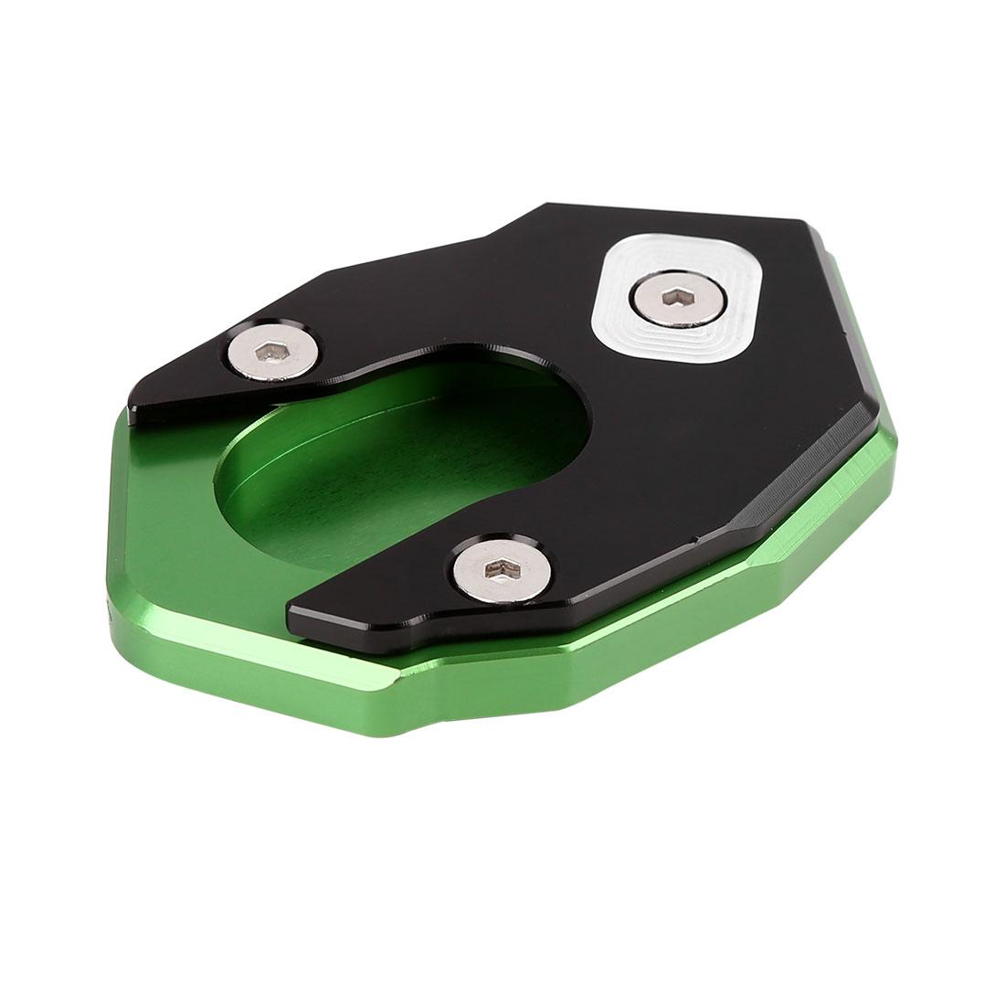 Black Green Anti-slip Kickstand Enlarger Pad for Kawasaki Z250 Z300 Z650