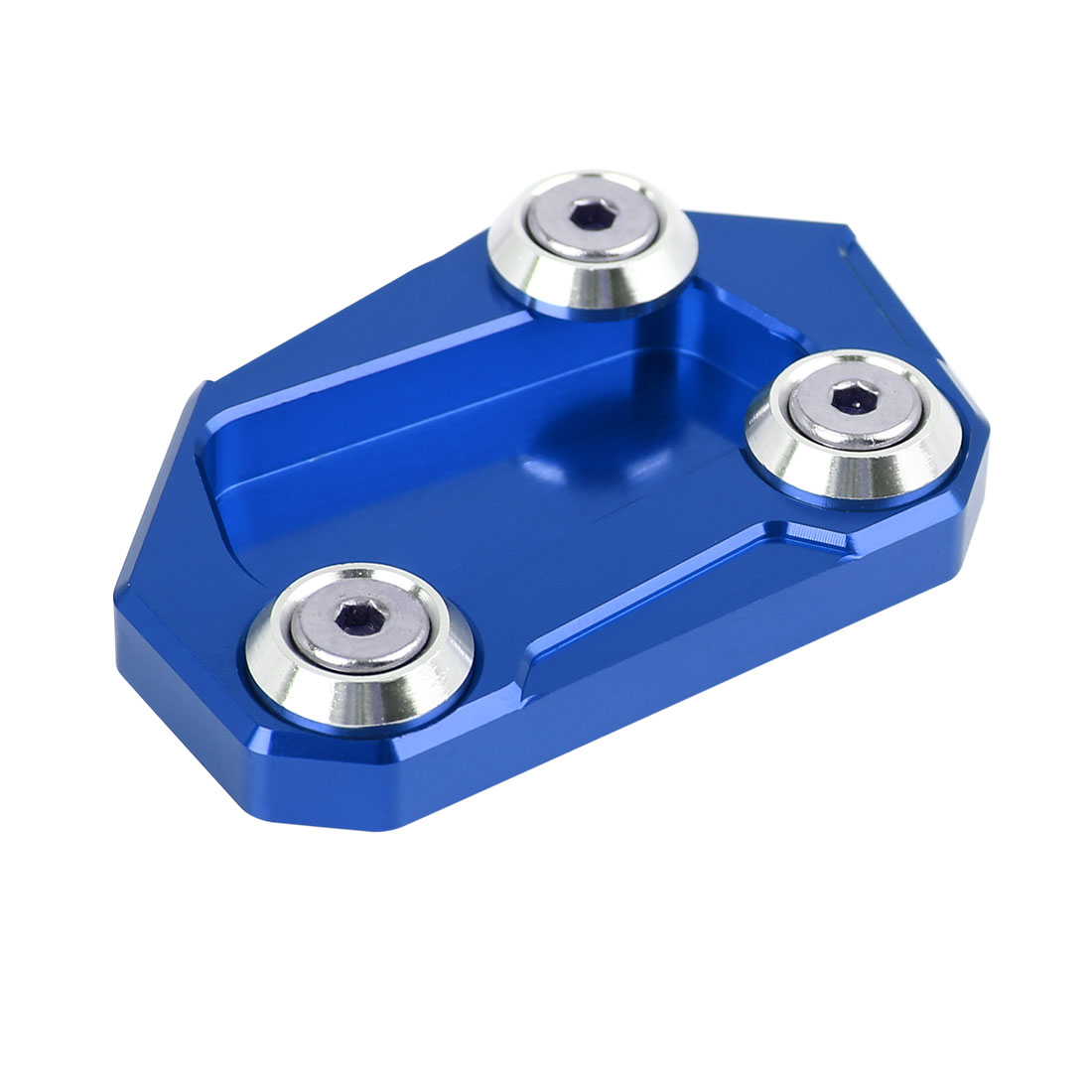Blue Aluminium Alloy Anti-slip Kickstand Enlarger Pad for BMW S1000RR HP4
