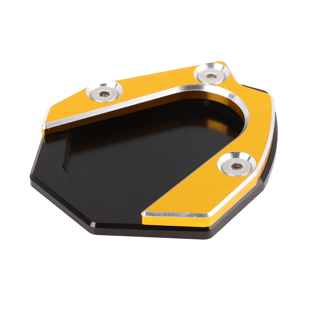 Black Gold Tone Aluminium Alloy Antislip Kickstand Enlarger Pad for Benelli 500