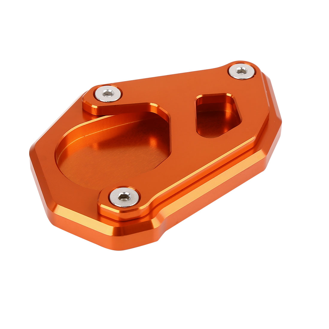 Orange Aluminium Alloy Kickstand Enlarger Pad Pad for KTM 1050 1090 1190 1290