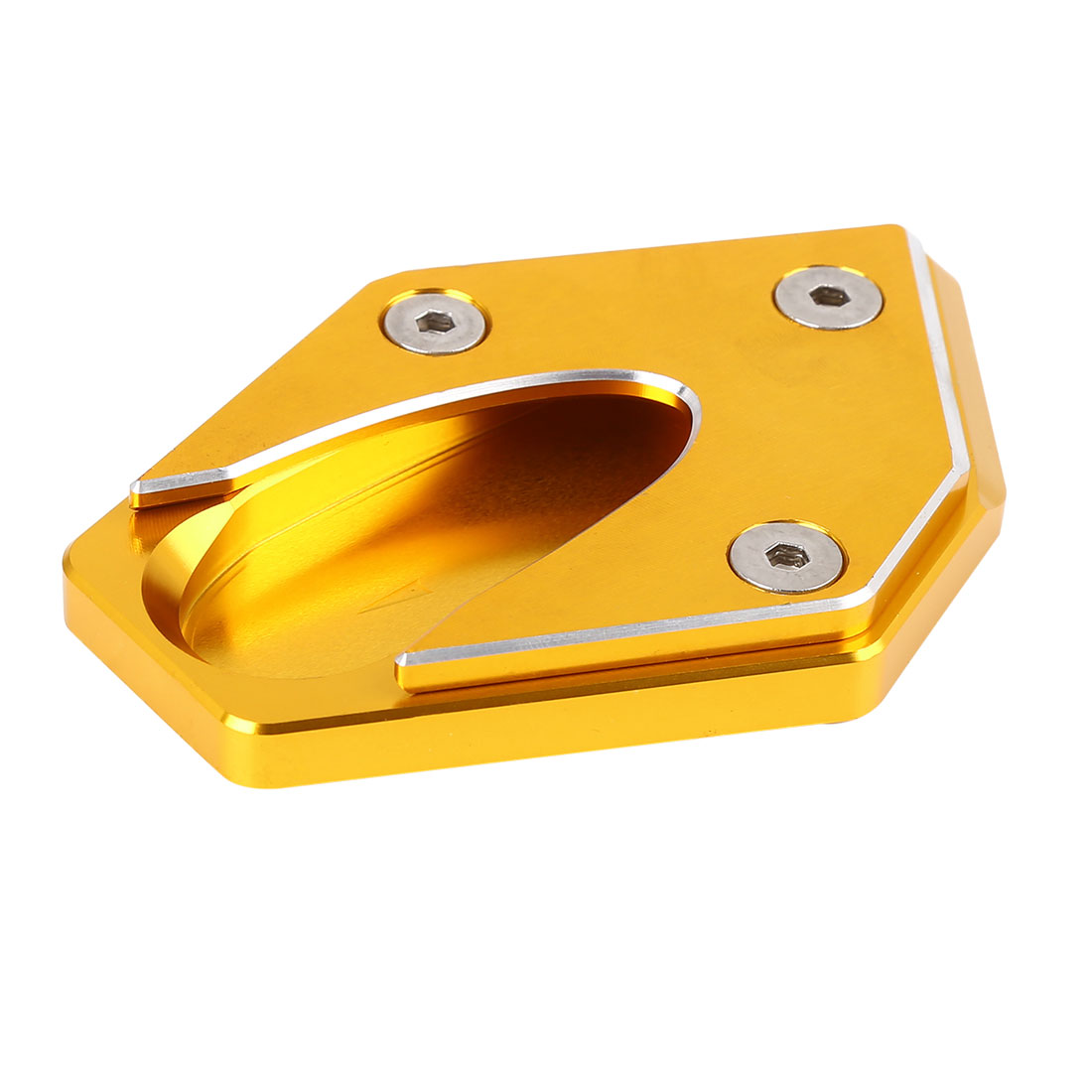 Gold Tone Aluminium Alloy Nonslip Kickstand Enlarger for Suzuki GSX250 GSX250R
