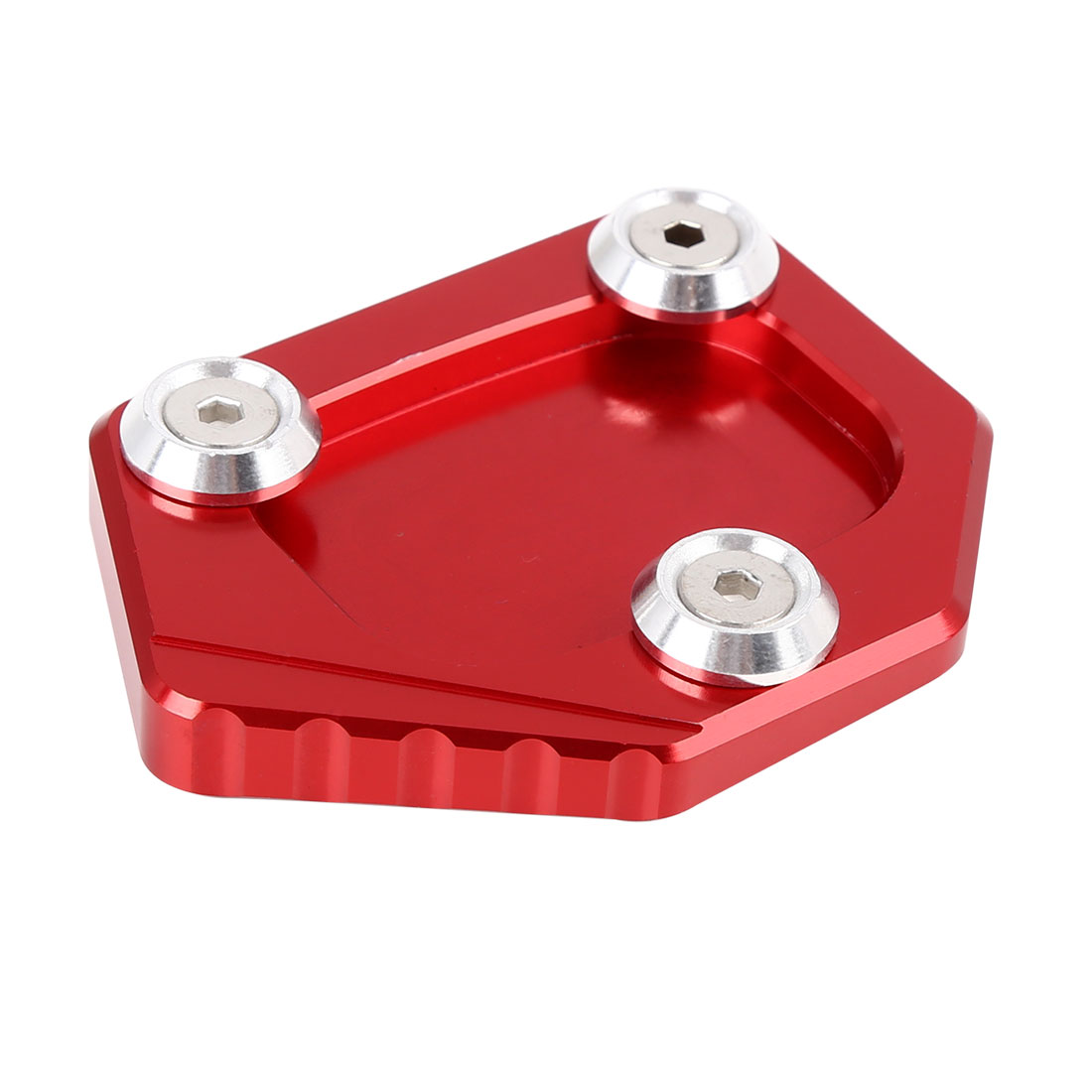 Red Aluminium Alloy Anti-slip Kickstand Enlarger Pad for Honda NC700S CBR650F