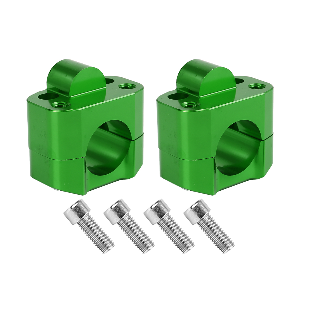 2Pcs Green Motorcycle Universal Fat Bar Handlebar Mount Clamps Fit 28mm Handle