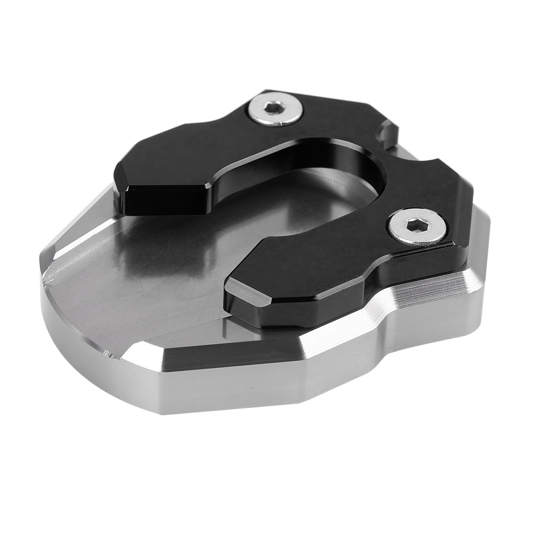 Titanium Tone Black Motorcycle Kickstand Pad Extension Plate for YAMAHA NMAX