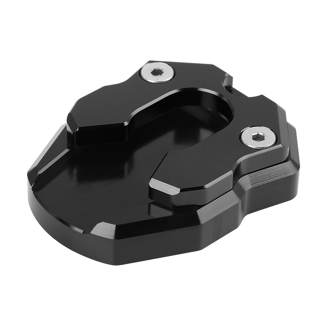 Black Motorcycle Kick Stand Pad Extension Plate Support Parking for YAMAHA NMAX