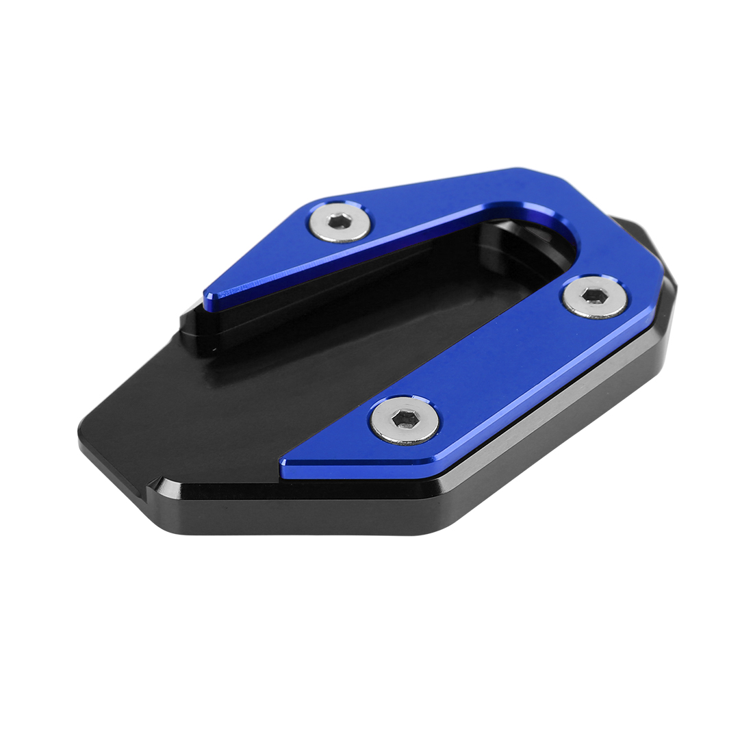 Black Blue Motorcycle Kickstand Pad Extension Plate Support Parking for R3-MT03
