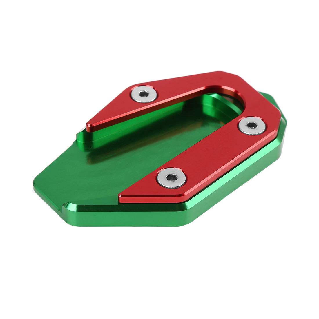 Green Red Motorcycle Kickstand Pad Extension Plate Support Parking for R3-MT03