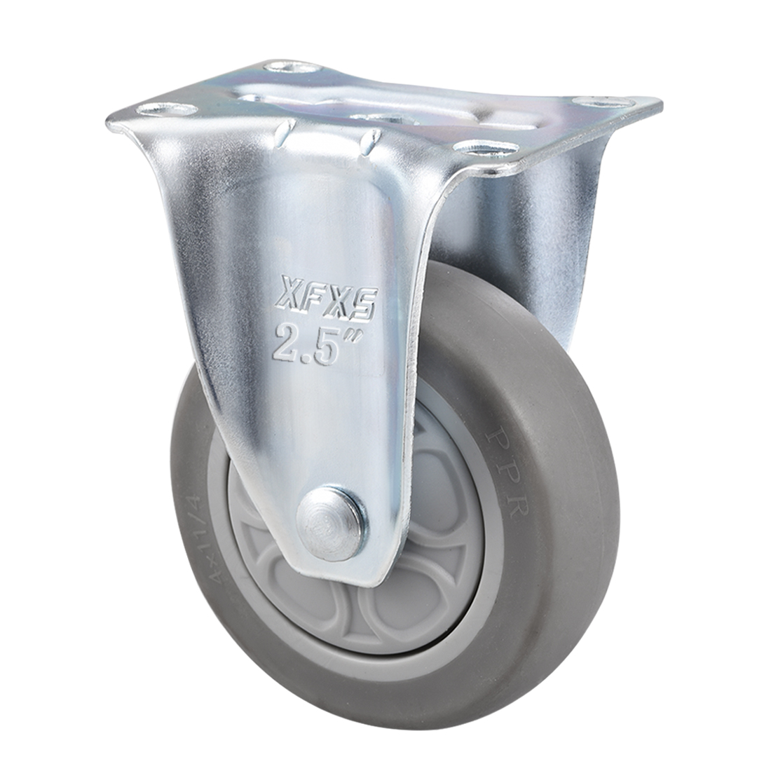 Fixed Caster Wheels 2.5inch TPR Caster Top Plate Mounted 242lb Capacity