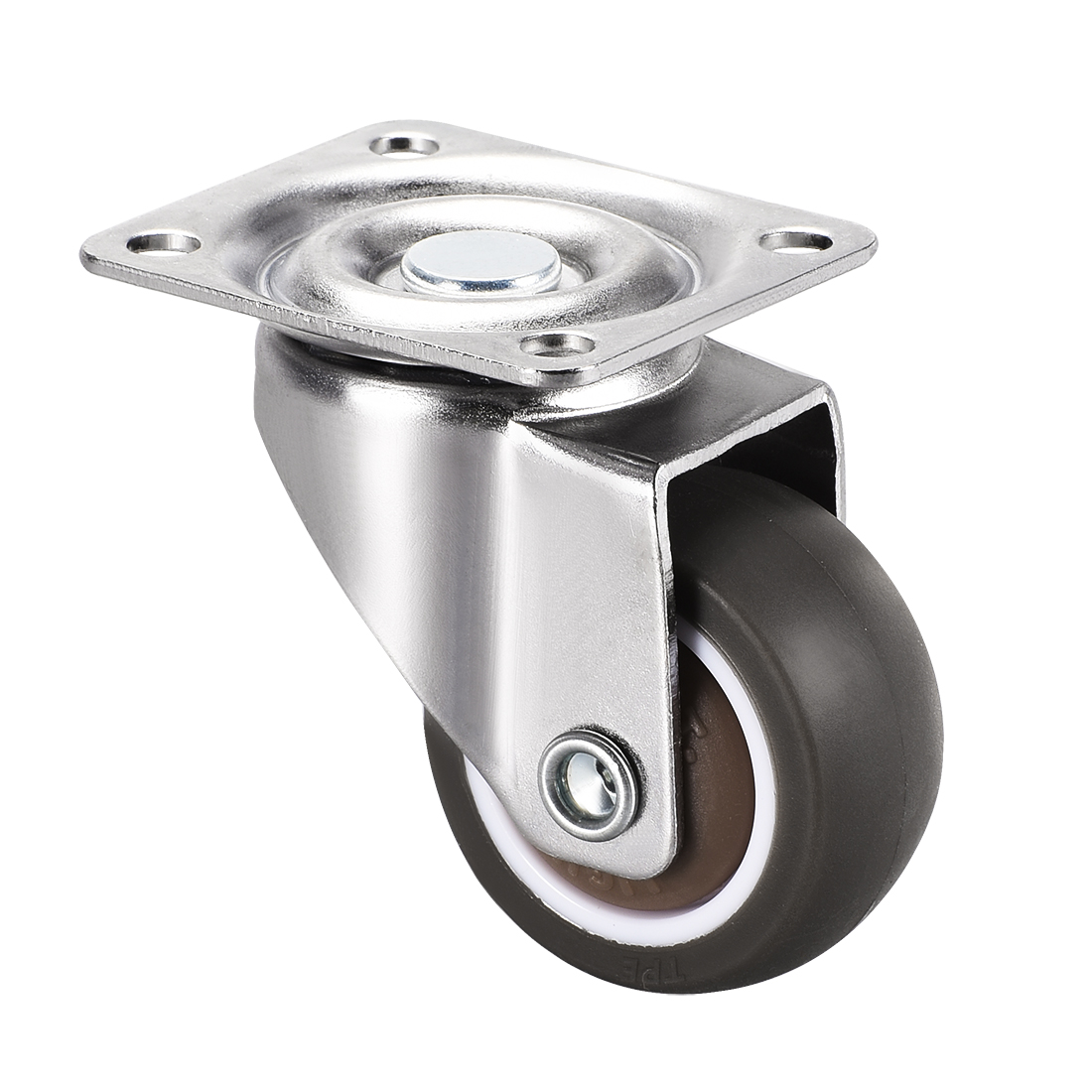 Swivel Caster Wheels 1.5 inch Dia TPR Caster Top Plate 44lb Capacity