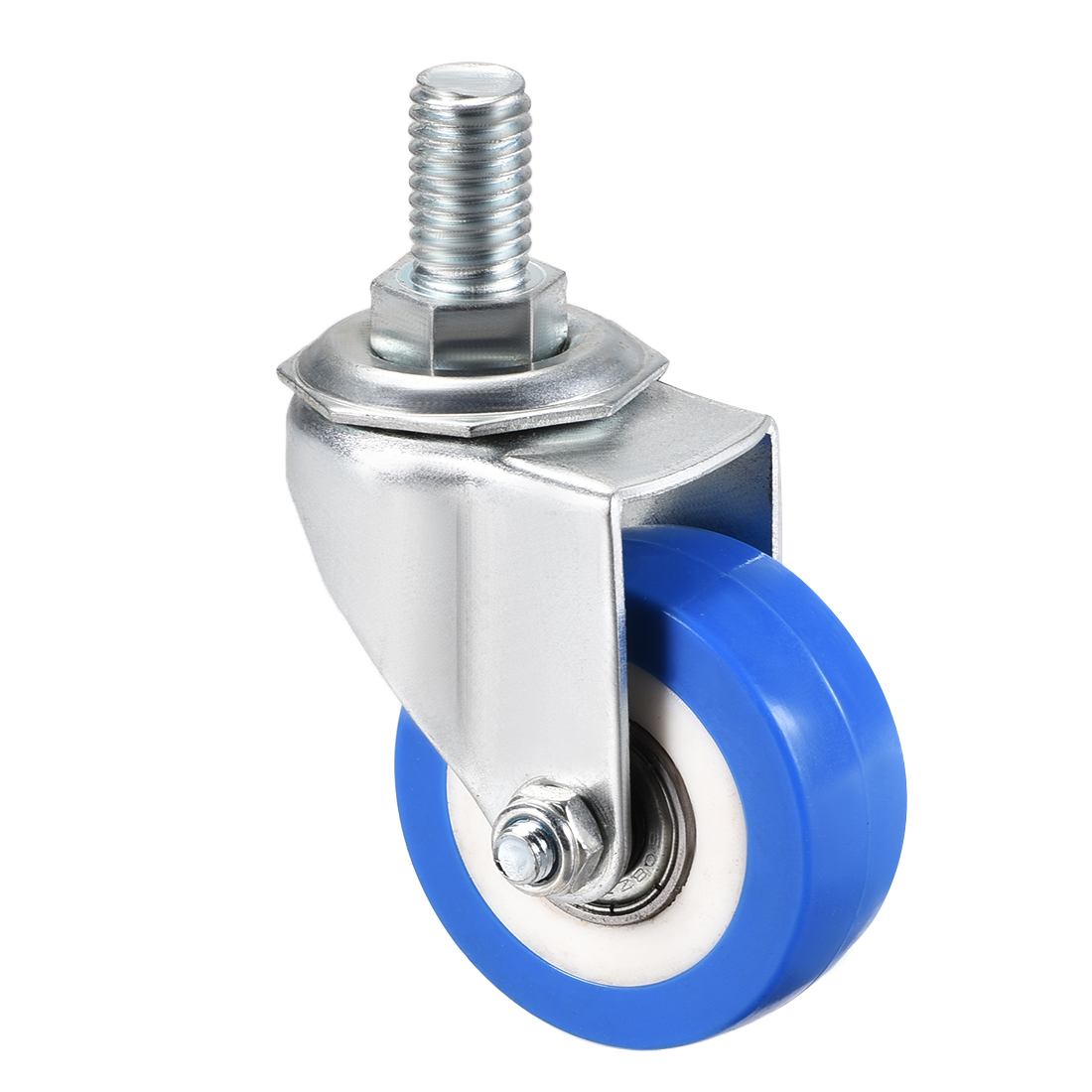 Swivel Caster Wheels PU Caster 2 Inch Dia Wheel M12 x 20mm Thread 132lb Capacity