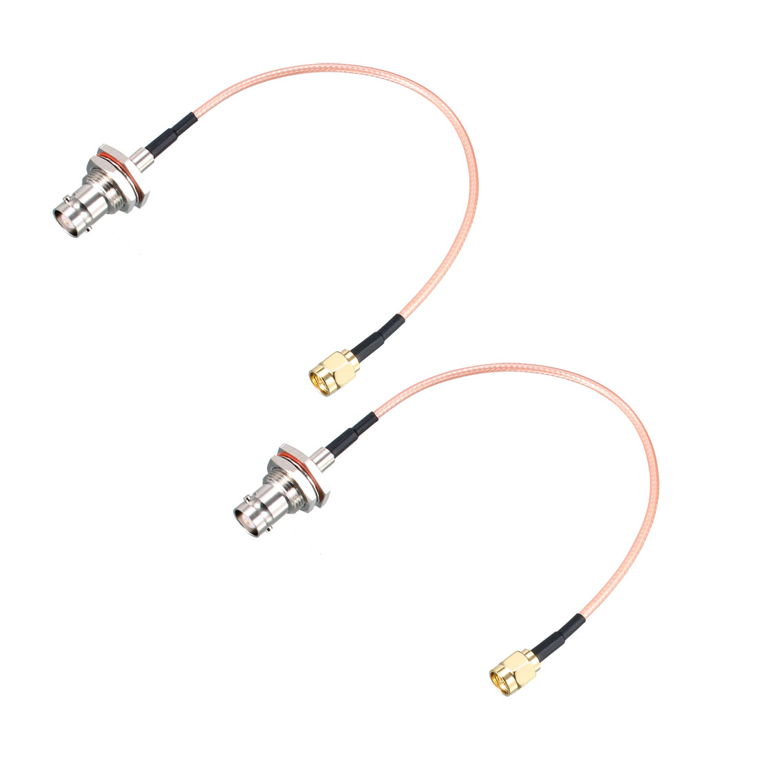 SMA Male to BNC Female Bulkhead RF Coaxial Cable RG316 Coax Cable 8 Inch 2pcs
