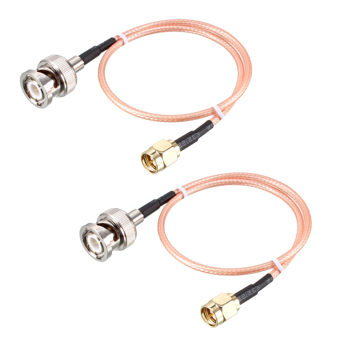 RG316 Coaxial Cable with BNC Male to SMA Male Connectors 50 Ohm 1 ft 2pcs