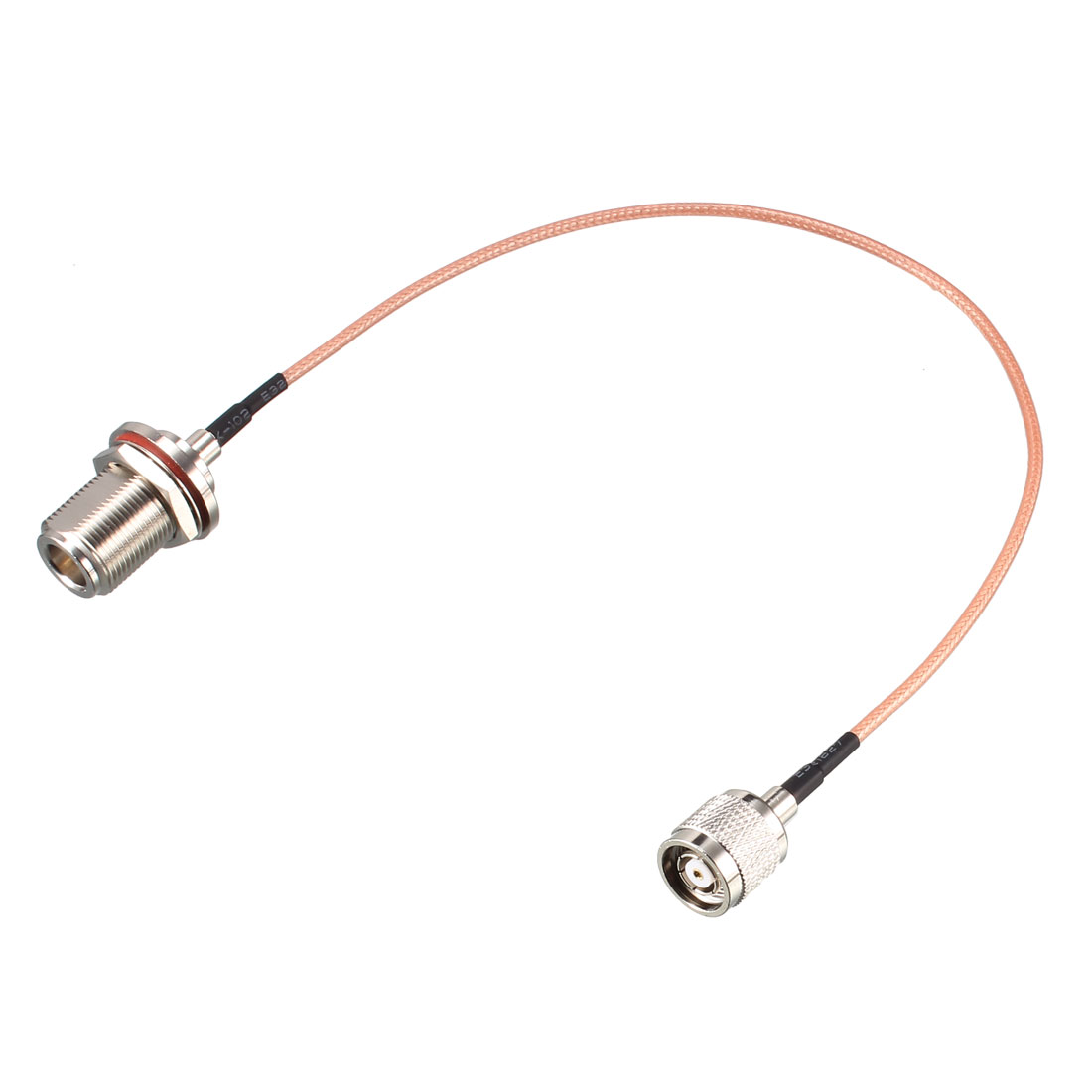RP-TNC Male to N-Type Female Bulkhead RG316 Coax Cable 1 ft