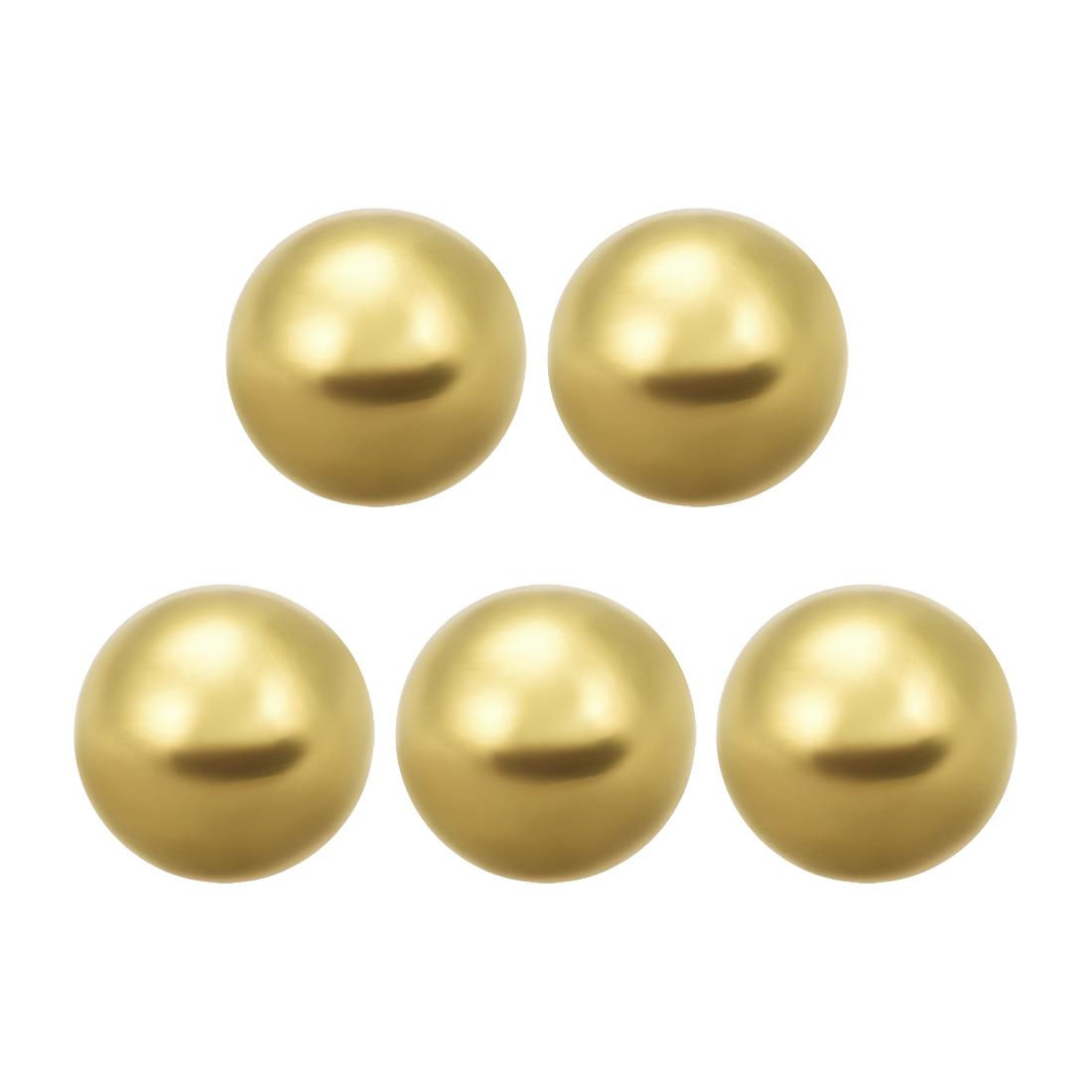 1/2-inch Precision Solid Brass Bearing Balls 5pcs