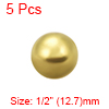 1/2-inch Precision Solid Brass Bearing Balls 5pcs