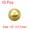 1/2-inch Precision Solid Brass Bearing Balls 10pcs