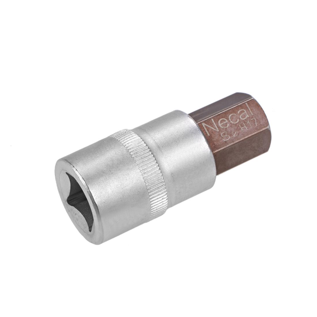1/2-inch Drive H17(17mm) Hex Bit Socket, Heat Treated CR-V Steel Sockets and S2