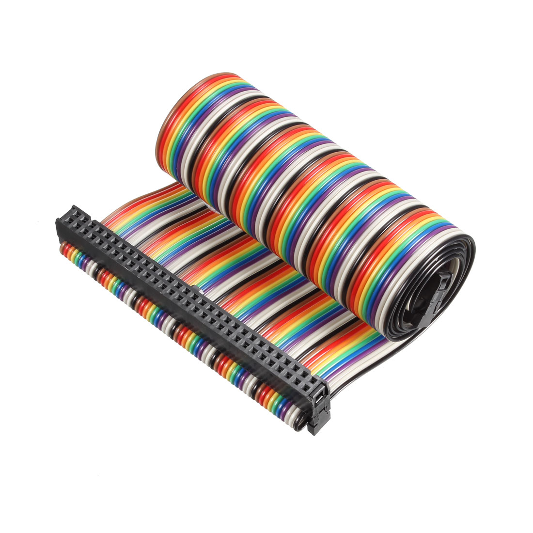 IDC Rainbow Wire Flat Ribbon Cable 60P A-type FC/FC Connector 2.54mm Pitch 0.5m