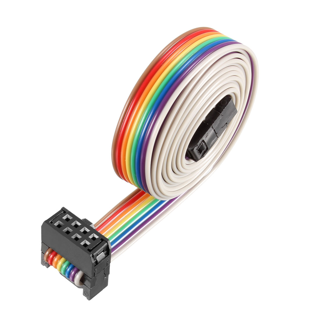 IDC Rainbow Wire Flat Ribbon Cable 8P A-type FC/FC Connector 2.54mm Pitch 1m