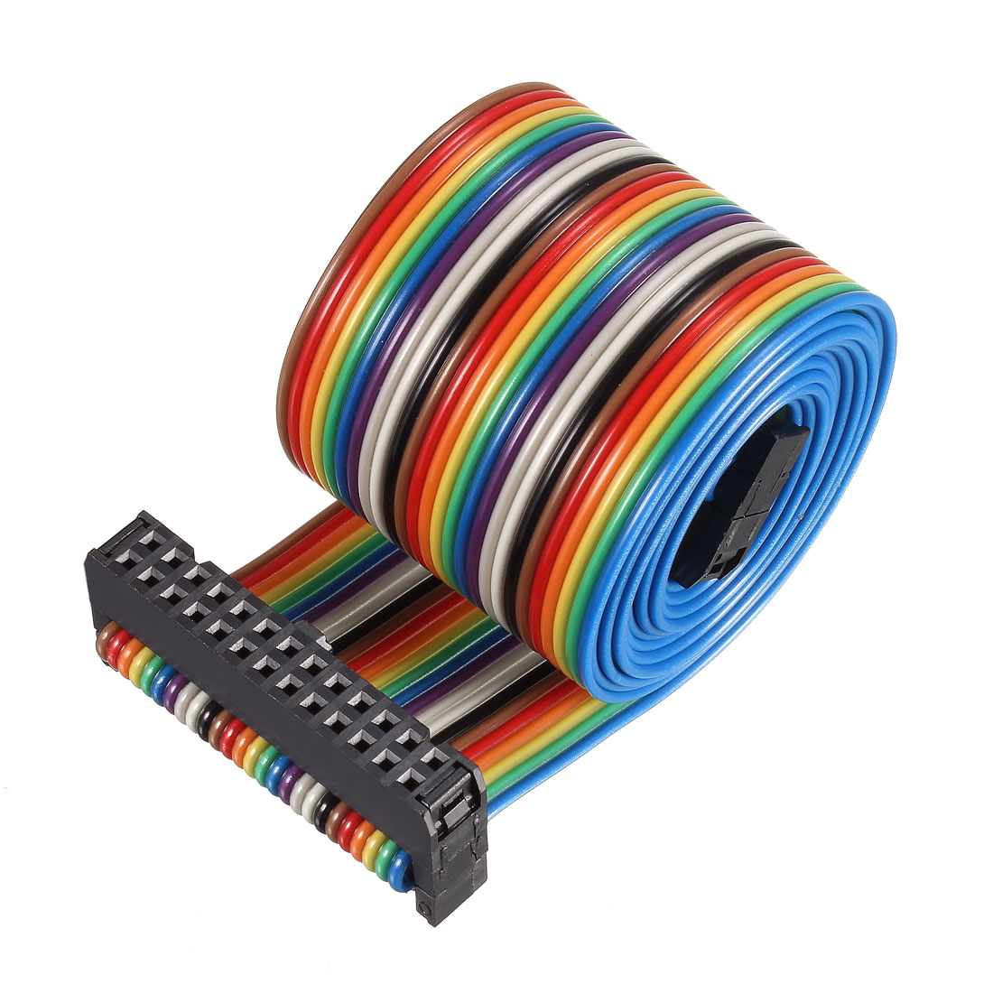 IDC Rainbow Wire Flat Ribbon Cable 26P A-type FC/FC Connector 2.54mm Pitch 1m