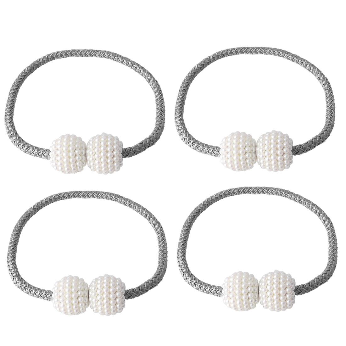 "4pcs Magnetic Curtain Tieback 19"" Holdbacks Decorative Curtain Holder, Grey"