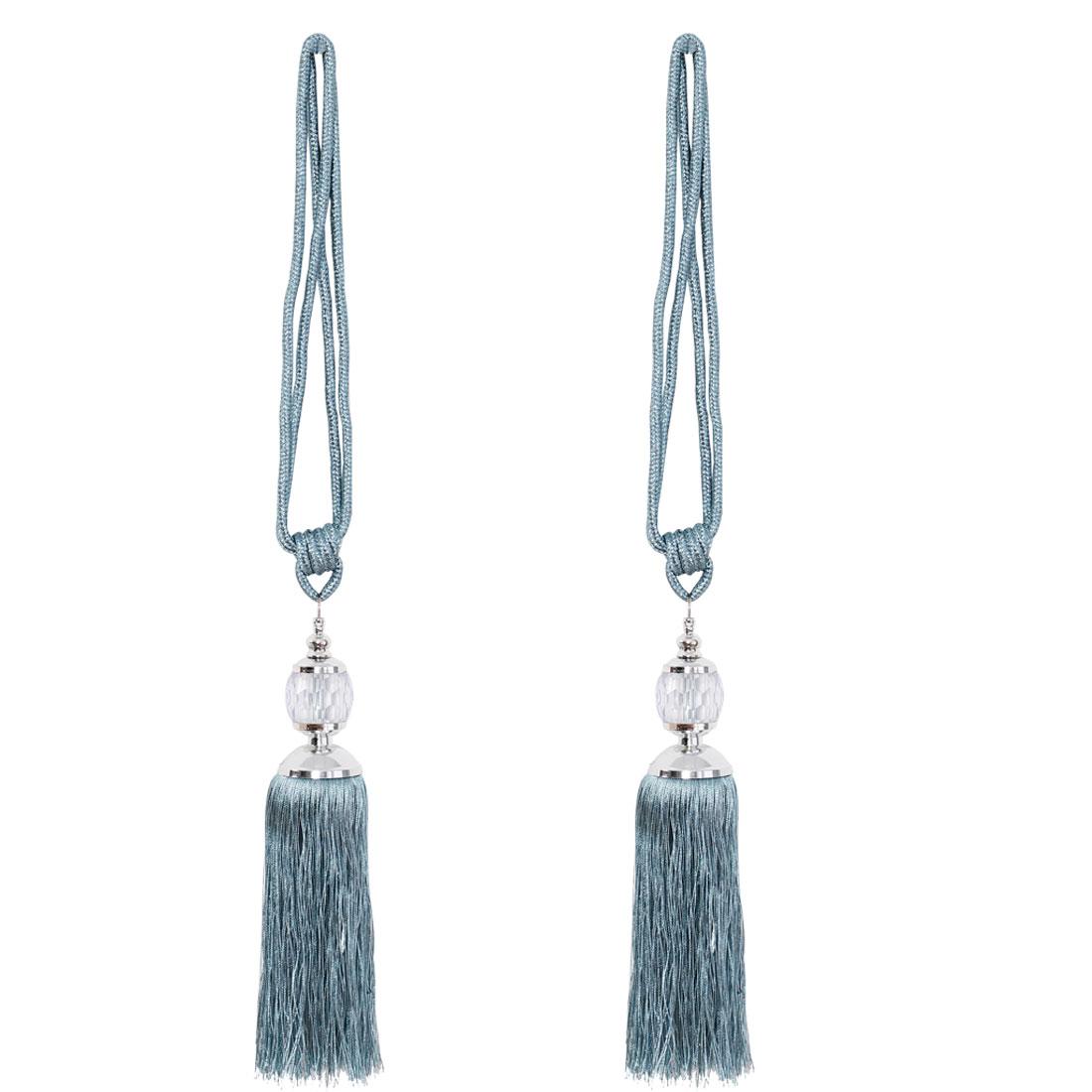"Tassel Curtain Tieback 24.8"" Holdback Decorative Rope Curtain 2pcs, Blue"
