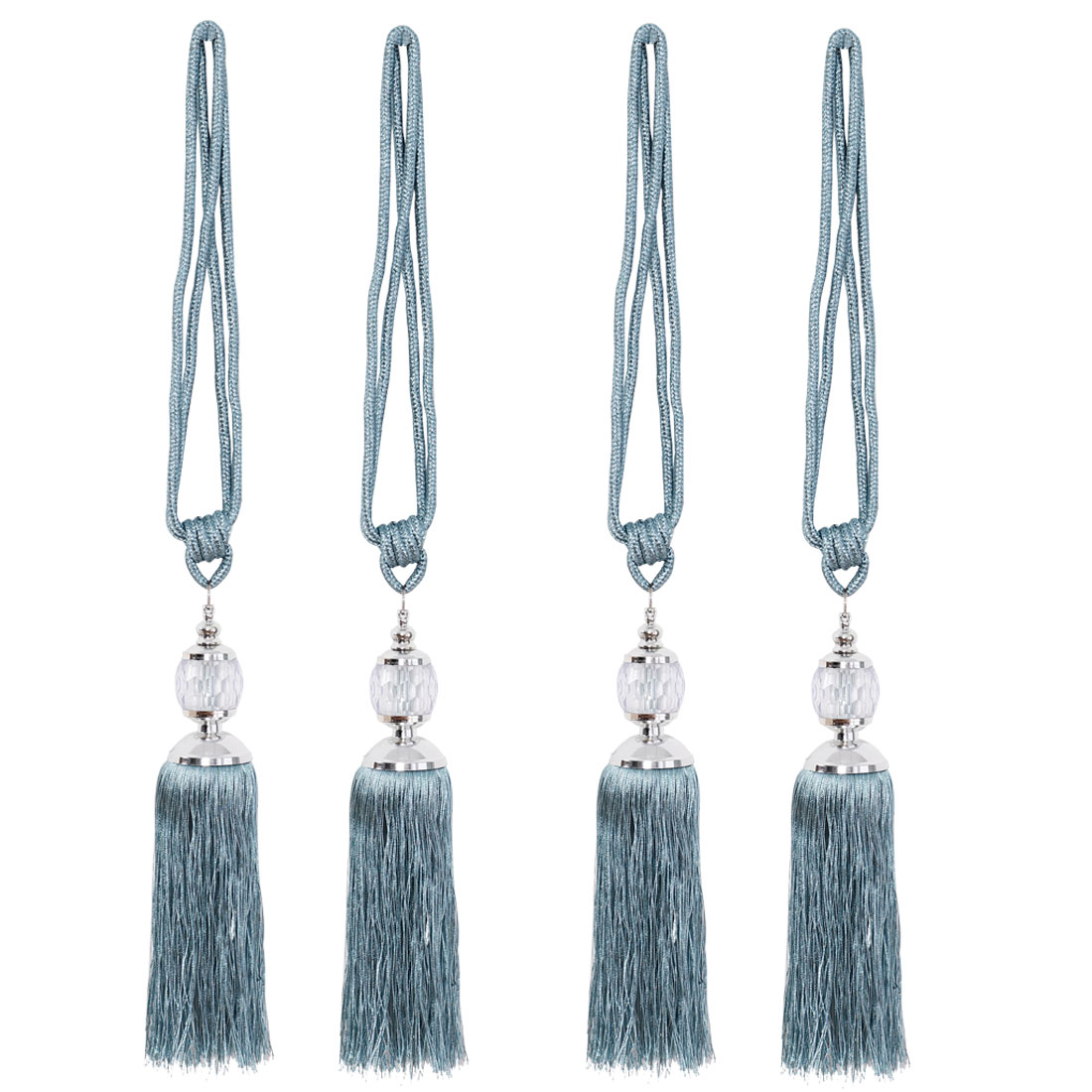 "Tassel Curtain Tieback 24.8"" Holdback Decorative Rope Curtain 4pcs, Blue"