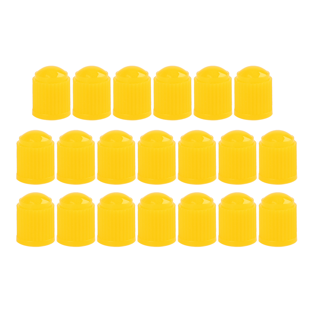 20pcs Yellow Plastic Universal Tire Valve Stem Cap Cover for Motorcycle Bike Car