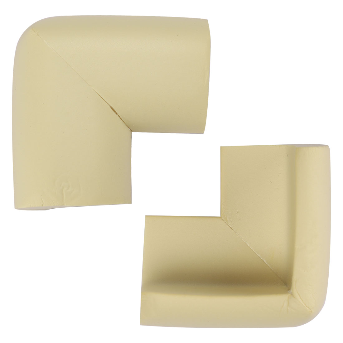 Desk Edge Foam Corner Cushion Guard Strip Soft Bumper Protector 2pcs Beiges