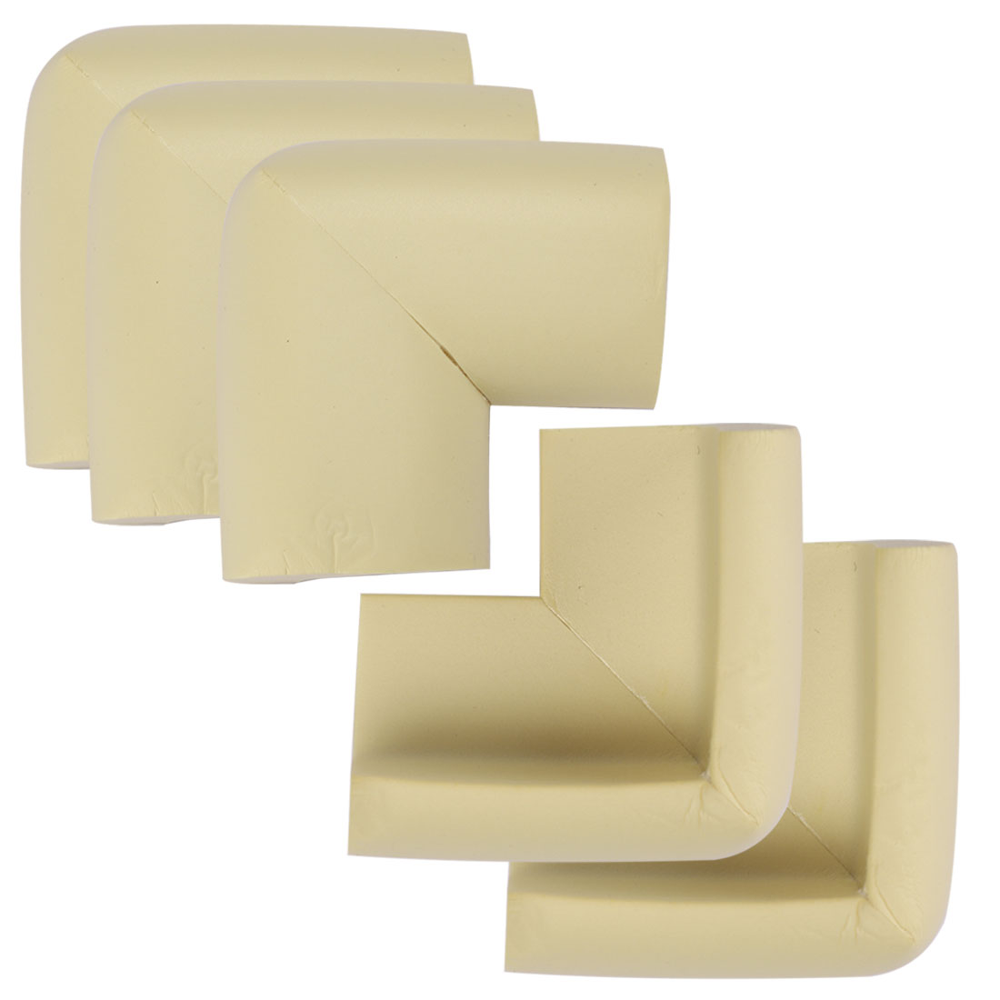 Desk Edge Foam Corner Cushion Guard Strip Soft Bumper Protector 5pcs Beiges
