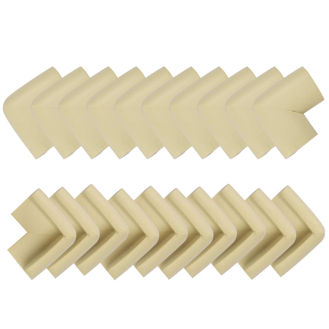 Desk Edge Foam Corner Cushion Guard Strip Soft Bumper Protector 20pcs Beiges