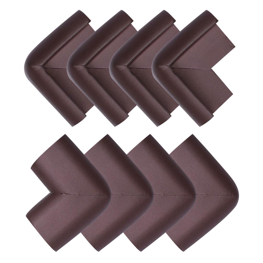Edge Foam Corner Cushion Guard Strip Soft Bumper Protector 8pcs Dark Brown