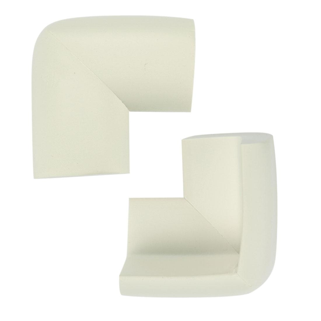 2pcs White Desk Edge Foam Corner Cushion Guard Strip Soft Bumper Protector